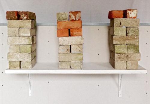 brick on shelf